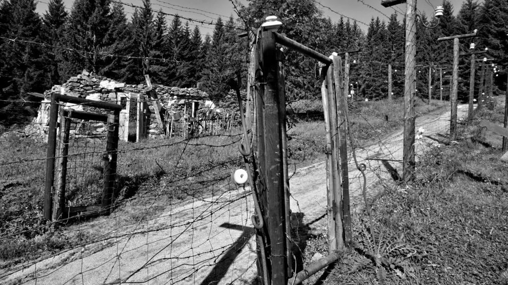 Sharp fence as a memory of history