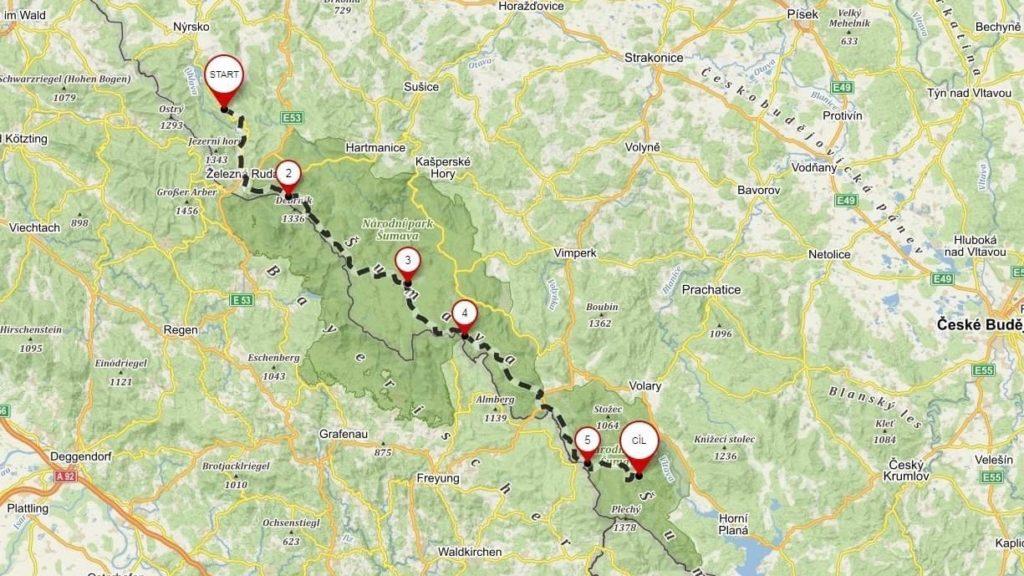 Our hike through Šumava National park