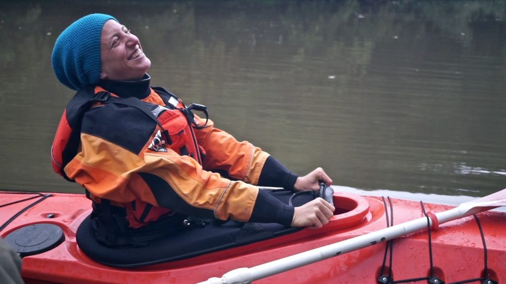 Me in kayak for the first time