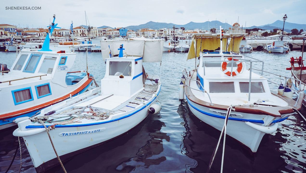 Aegina, port