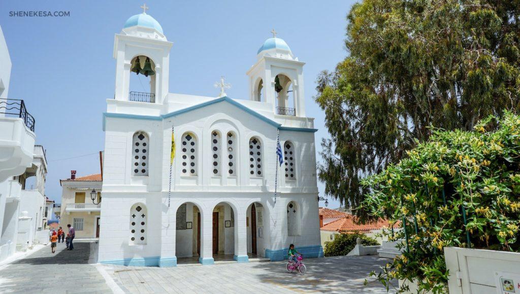 Kostel, Chora, ostrov Andros