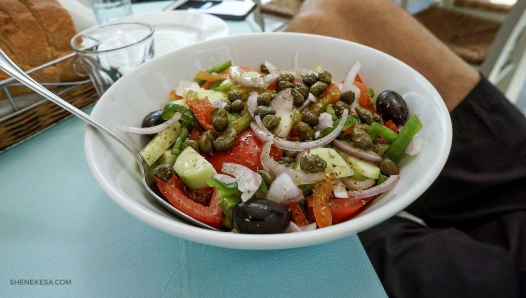 Řecký salát, ostrov Andros