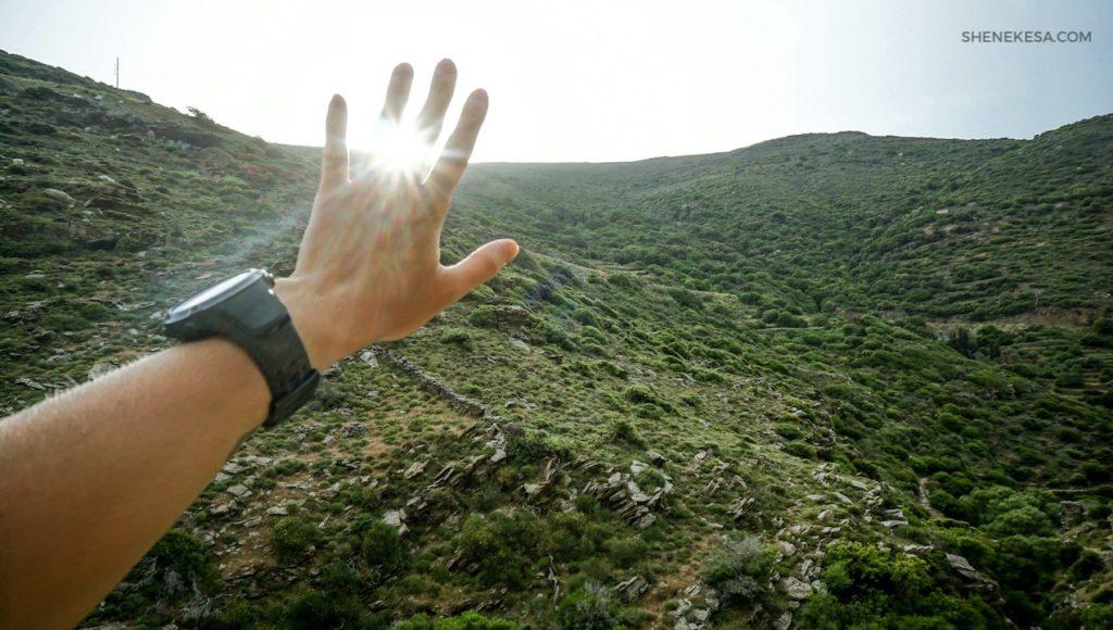 Můj sluneční prstýnek, ostrov Andros