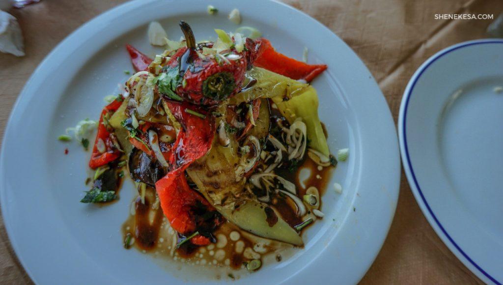 Fantastická pečená zelenina, ostrov Andros